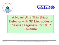A Novel Ultra Thin Silicon Detector with 3D Electrodes - Helsinki ...