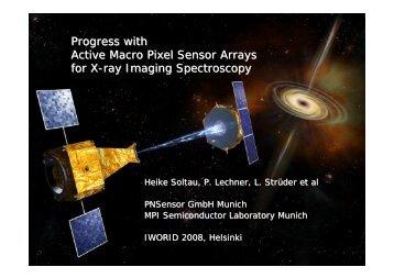 Active Macro Pixel Sensor Array - Helsinki Institute of Physics