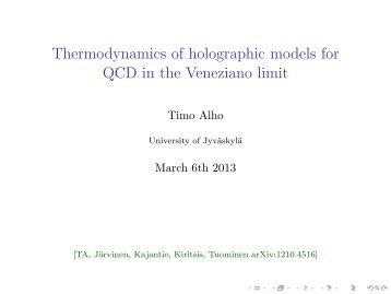 Thermodynamics of holographic models for QCD in the Veneziano ...
