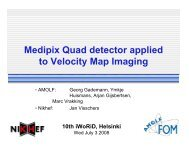 Medipix Quad detector applied to Velocity Map Imaging