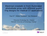 Electrical crosstalk in front illuminated photodiode array with ...