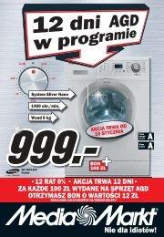 12 rat 0% • akcja trwa 12 dni• za każde 100 zł ... - Hiperpromo.pl