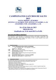campeonatos gaúchos de salto 2013 - Sociedade Hípica Porto ...