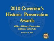2010 Award Recipients - Office of Historic Preservation