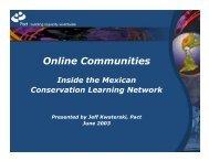 Online Communities: Inside the Mexican Conservation ... - HIPNet