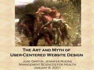 Web Site Design & Usability Testing - HIPNet