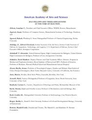 By Alphabetical List - American Academy of Arts and Sciences