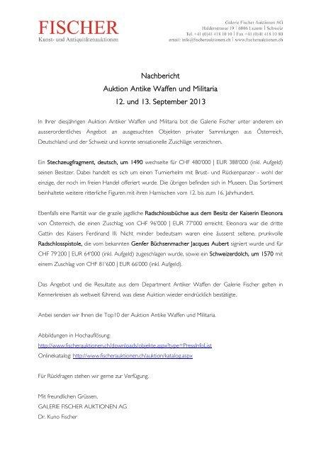 PDF-Datei (hier clicken) - Galerie Fischer Auktionen AG