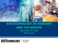 Biotechnology in Hungary and the Region