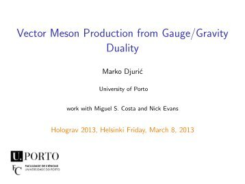 23ptVector Meson Production from Gauge/Gravity Duality