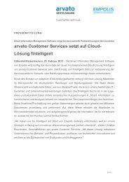 arvato Customer Services setzt auf Cloud-Lösung fintelligent - Empolis