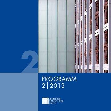 PROGRAMM 2 2013 - Franz-Hitze-Haus