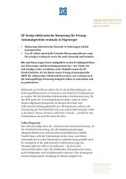 ZF fertigt elektronische Steuerung für 9-Gang- Automatgetriebe ...