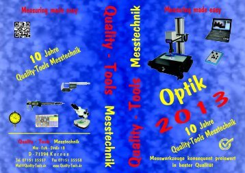 Katalog Optik - Quality-Tools Messtechnik