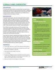 Corals and Chemistry - Climate Change Lesson Plan