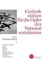 Gedenkstätten für die Opfer des Nationalsozialismus