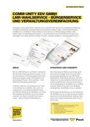 LMR-Wahlservice / Bürgerservice und Verwaltungsvereinfachung