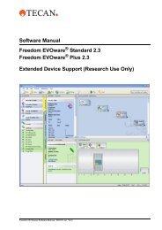 Software Manual Freedom EVOware Standard 2.3 Freedom ...