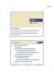 Vorlesung 1 Grundlagen der Programmentwurfstechnik ...
