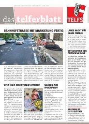 Telferblatt 215 vom 13.09.13 - Marktgemeinde Telfs