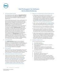 Dell ProSupport für Software Servicebeschreibung