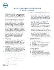 Dell ProSupport für Multivendor-Software Servicebeschreibung