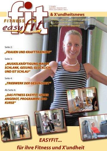 Neueste Studio News / Journal: MEHR - easyfit Parsberg