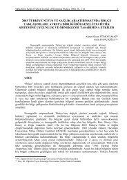 2003 türkiye nüfus ve sağlık araştırması'nda bölge yaklaşımları