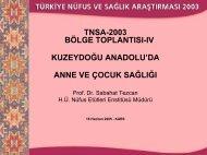 Prof. Dr. Sabahat Tezcan - Hacettepe Üniversitesi Nüfus Etütleri ...