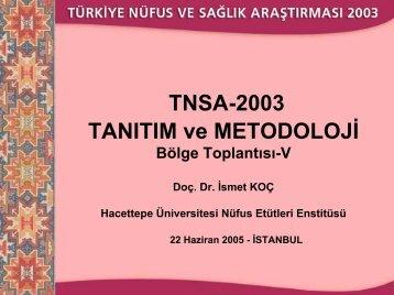 1 - Hacettepe Üniversitesi Nüfus Etütleri Enstitüsü
