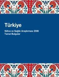 TNSA-2008 Özet Raporu - Hacettepe Üniversitesi Nüfus Etütleri ...