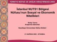Ar. Gör. Sutay Yavuz - Hacettepe Üniversitesi Nüfus Etütleri Enstitüsü