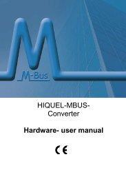 HIQUEL-MBUS- Converter Hardware- user manual