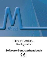 HIQUEL-MBUS- Konfigurator Software-Benutzerhandbuch