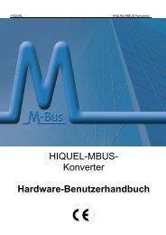 HIQUEL-MBUS- Konverter Hardware-Benutzerhandbuch