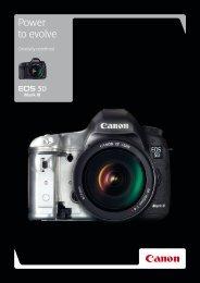 Power to evolve - Brochures - Canon Europe