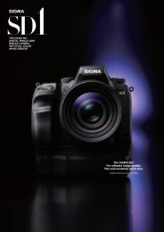 The SIGMA SD1 For ultimate image quality The real revolution starts ...