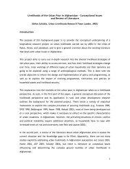 1 Livelihoods of the Urban Poor in Afghanistan – Conceptional ...