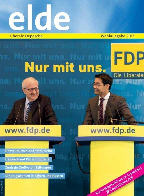 Liberale Depesche Wahlausgabe 2013 - Elde Online