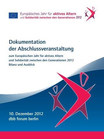 Dokumentation der Abschlussveranstaltung (pdf) - BAGSO