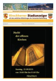 Ausgabe Nr. 38 vom 20. September 2013 - Hirschhorn