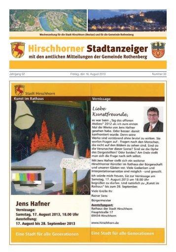 Ausgabe Nr. 33 vom 16. August 2013 - Hirschhorn