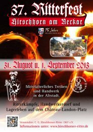 31. August u. 1. September 2013 - Hirschhorner Ritter