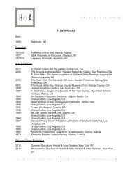CV/Bibliography PDF - Hirschl & Adler Galleries