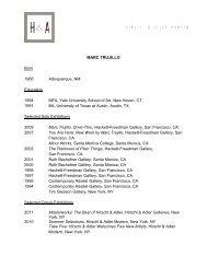 MARC TRUJILLO Born 1966 Albuquerque, NM Education 1994 ...