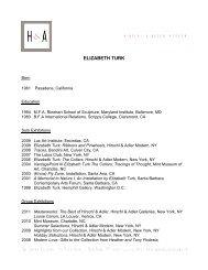ELIZABETH TURK - Hirschl & Adler Galleries
