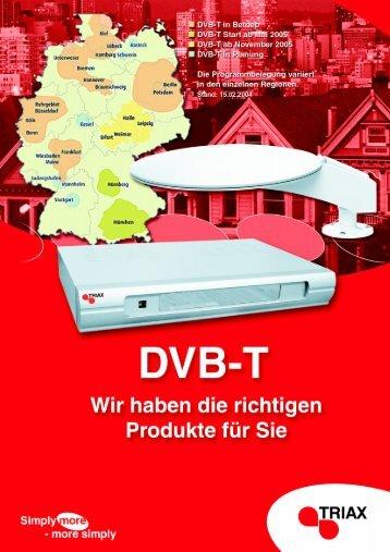 Terrestrische Antennen und Digitalreceiver für DVB-T - Triax