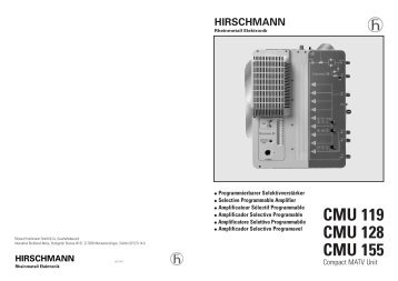 HIRSCHMANN CMU 119 EPUB DOWNLOAD