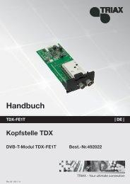 TDX Service Tool - Triax