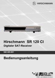 Hirschmann SR 120 CI Digitaler SAT-Receiver